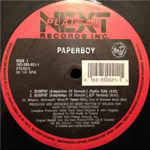 Paperboy - Bumpin' (Adaptation Of Humpin') album
