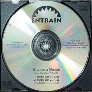 Entrain - Back In A Minute album
